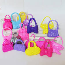 10PC Fashion For Barbie Doll Handbags Shoulder Bags Miniature Lovely