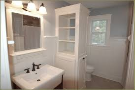 Tall Bathroom Cabinets Freestanding by Bathroom White 3 Drawers Corner Linen Cabinet For Bathroom
