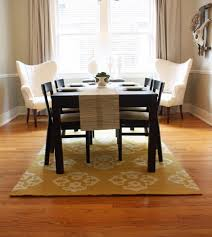Dining Room Casual Set With Bench Tapered Wood Chair Legs Area Ceramic Floor Red Nylon