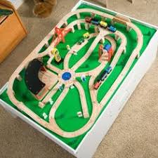 imaginarium classic train table with roundhouse wooden train