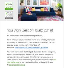 100 Wynne Construction We Have Been Awarded Best Of Houzz 2019 Josh