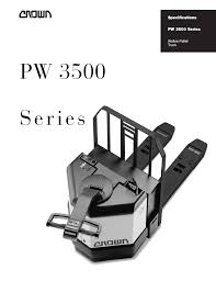 100 Walkie Pallet Truck Crown Equipment PW 3500 User Manual 4 Pages