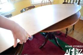 Round Table Top Extender Glossy Surface Dining Room Extenders