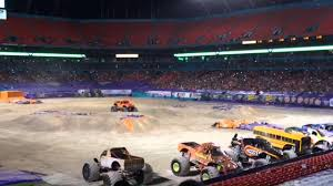100 Monster Truck Show Miami Jam 2015 El Toro Loco Freestyle YouTube