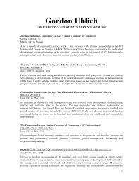 Community Service Resume Volunteer Work Examples For Of Resumes