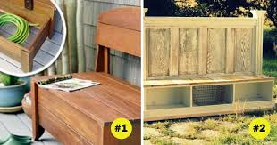 diy outdoor storage bench ideas