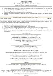Financial Analyst Resume Summary New Example Of Finance Business