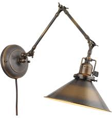 wall sconce ideas vintage rustic adjustable swing arm model