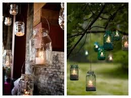 Mason Jar Lanterns Candles Wedding