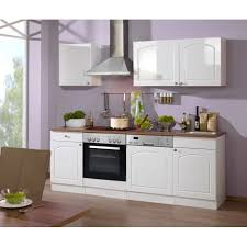 küchenzeile boston küche mit e geräten breite 220 cm hochglanz weiß