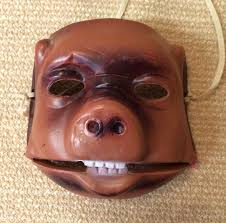 Halloween Blow Molds Ebay by Vintage Rare Halloween Mask Pig Bear Blow Mold Plastic Movable Jaw