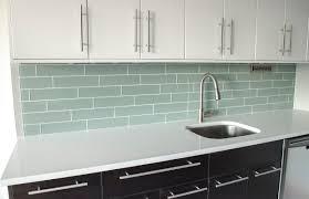 small kitchen decoration using light blue subway tile kitchen