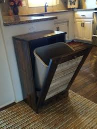 ON SALE Rustic Tilt Out Trash Bin Can Reclaimed By