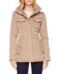 Lyst Michael michael kors Quilted Puffer Jacket in Natural