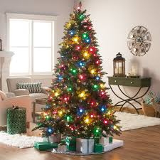 Spiral Christmas Tree Lighted by Snowy Dunhill Full Pre Lit Christmas Tree Hayneedle
