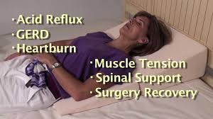 Bed Wedge Acid Reflux by Folding Wedge Cushion Helps Sleeping With Acid Reflux Youtube