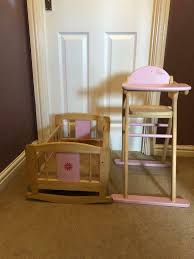 Baby Dolls High Chair & Crib | In Bathgate, West Lothian | Gumtree Solid Wood Baby Doll High Chair Olivias Little World Princess Baby Doll Fniture High Chair White Wooden 18 Inch Chiwanji Toddler Ding For 911 Reborn Toy Exquisite Plans Of 17672 Owl Theme Cradle And Highchair Set Delights And Girls Dolls Wardrobe Item Perfect For Ideas Rattan Vintage Miniature Wood Vertigo Toys Old Role Play Le Van Melissa Doug Accsories