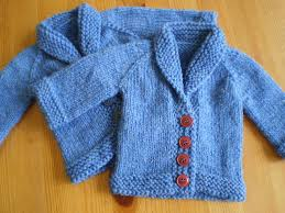 baby sweater on the needles