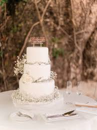 All White Babys Breath Wedding Cake