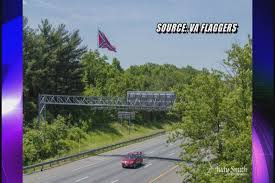 100 Confederate Flag Truck Group Flies 2nd Massive Flag By I95 In VA