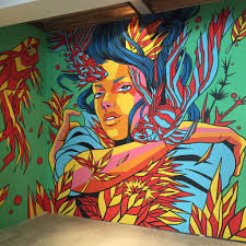 Big Ang Mural Location by Bicicleta Sem Freio Completes New Mural In San Francisco At Hotel