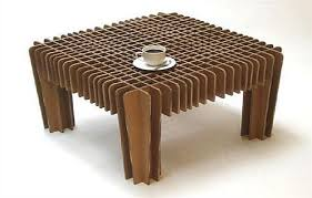 Coffee Table Cardboard Furniture how to make cardboard furniture