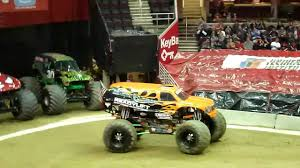 100 Monster Trucks Cleveland Bad Habit Truck Freestyle Run 2012 YouTube