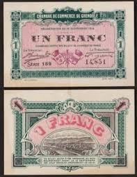 chambre des commerces grenoble 1 franc 1916 grenoble ticket necessity chamber of commerce ebay