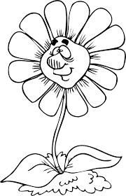 Spring Flower Coloring Page