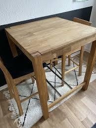 küchentisch hochtisch 2 barhocker set dänisches bettenlager