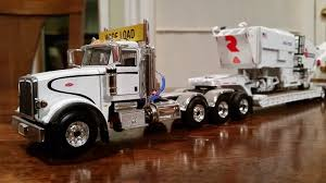 White On White First Gear Peterbilt Lowboy Truck With A Road Tech ...