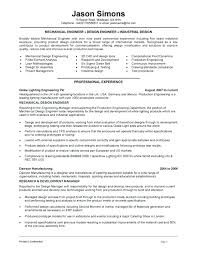 Mechanical Engineering Resume Template Engineer Example Electrical Professional Experience Cv Format For Fresher