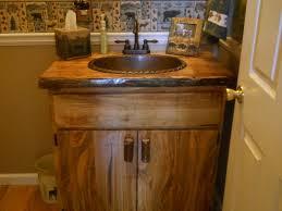 Image Of Rustic Style Bathroom Vanities Cabinet