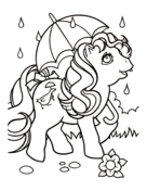 Pony With Umbrella Likes Sweets From My Little