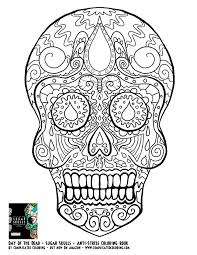 Day Of The Dead Dia De Los Muertos Sugar Skull Coloring Pages Colouring Adult Detailed Advanced Free Printable
