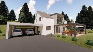 100 Modern Hiuse Modern House With Garage And Terrace 3d Model 3D Model