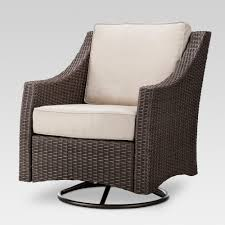 Belvedere Wicker Swivel Rocker Patio Club Chair - Tan - Threshold In ...