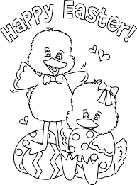 Popular Happy Easter Coloring Pages