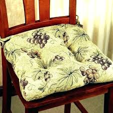 Yellow Chair Pads Cushions Indoor With Ties Dining Room Leather Upholstery Repair Chairs