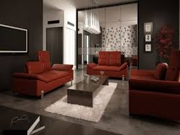 Red And Black Living Room Decorating Ideas by Black Grey And Red Decor Loungeroom Inviting Home Design