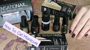 Sensationail Led Lamp Boots by At Home Gel Manicure Sensationail Demo Youtube