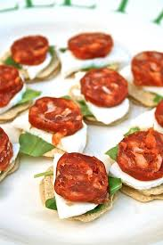 canap made com chorizo canapes recipe with mozzarella and rocket recipe canapes
