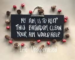 Quickie In The Bathroom by Funny Bathroom Signs Etsy