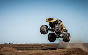 Monster Truck Jump Stop Action Wallpaper | 1920x1200 | 48571 ...