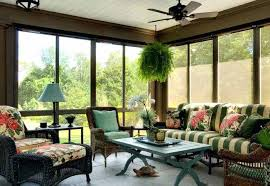 Sunroom Furniture With Wicker And Wooden Pieces Indoor Design