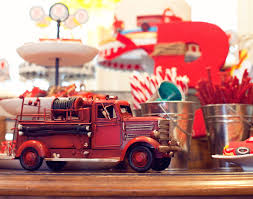 A Vintage Firetruck Birthday Party - Anders Ruff Custom Designs, LLC