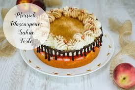 pfirsich mascarpone sahne torte marion s kaffeeklatsch