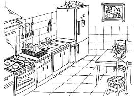 Stylist Design Ideas Kitchen Coloring Page Free Printable Pages Maeluke Com