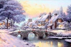 Thomas Kinkade Christmas Tree Cottage by Christmas Cottage Wallpaper