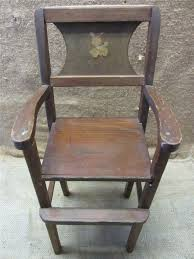 Vintage Wooden Doll High Chair Antique Toy Old Dolly ...